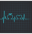 Heartbeat make apple and heart symbol vector image