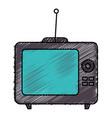 old tv retro icon vector image