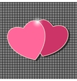 Pair of pink hearts vector image