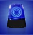 police siren flasher vector image