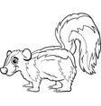 skunk animal cartoon coloring page vector image