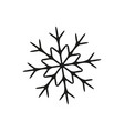 snowflake in winter icon vector image