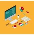 Website coding vector image