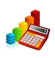calculator and graph vector image