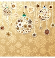 Christmas gold with baubles EPS 8 vector image vector image