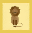 flat shading style icon cartoon lion vector image