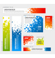 banner templates collection with abstract vector image vector image