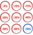 Discount buttons vector image