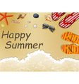 Summer Holidays in the Beach vector image