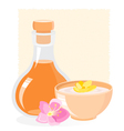 spa icon with oil vector image vector image