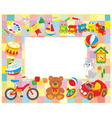 Toy picture frame vector image vector image