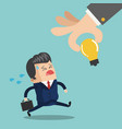 businessman running with briefcase cartoon vector image