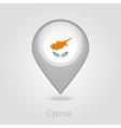 Cyprus flag pin map icon vector image