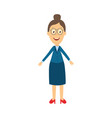 flat cartoon female teacher character vector image
