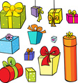 gift collection isolated on white background vector image