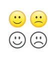 Happy and sad emoticons vector image