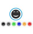 happy smiley icon vector image