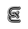 letter e celtic font norse medieval ornament abc vector image