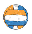 retro volleyball ball vector image