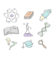 Set of Hand Drawn Science icons vector image