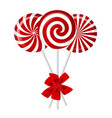 Striped candy vector image