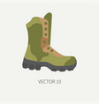 Line tile color hunt and camping icon - vector image