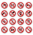 Set icons Prohibited symbols vector image