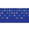 Abstract textile polka dots on blue horizontal vector image