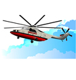al 0917 helicopter vector image vector image