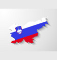 Slovenia map with shadow effect presentation vector image