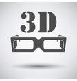 3d goggle icon vector image