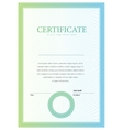 vertical Template certificate and diplomas vector image