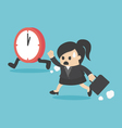 The time management business woman running vector image vector image