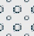 Synchronization sign icon smartphones sync symbol vector image