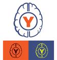 generation y brain vector image