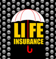 Life insurance Protection against accident and vector image