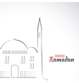 Single flat icon of Mosque isolated on white vector image vector image