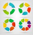Set of circle arrows vector image
