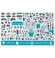 big set of quality icons household items vector image
