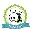 Bussy bee label vector image