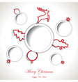 Christmas background with text place vector image