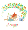 Cute summer vector image