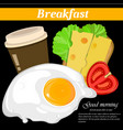 full english and american breakfast vector image