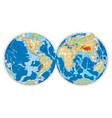 hemispheres of earth vector image