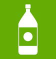 water bottle icon green vector image
