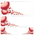 Set of horizontal banners with hearts Background vector image vector image