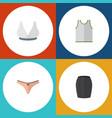 flat dress set of lingerie stylish apparel vector image