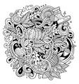cartoon cute doodles hand drawn autumn vector image