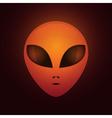 Alien head vector image vector image