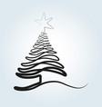 line sketch of a christmas tree